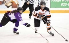 Women's hockey sweeps Neumann as Goodwin shines