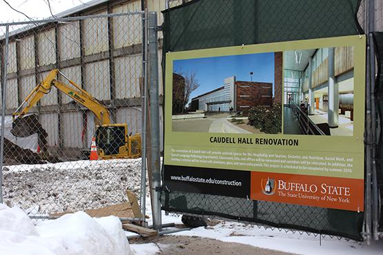 Caudell Hall undergoing renovation