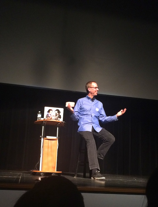 """PostSecret Live!"" creator Frank Warren gives safe haven for students' secrets"