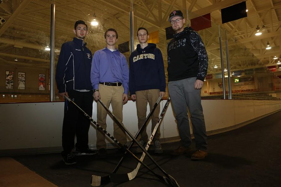 Four students looking to light the lamp on Buffalo State's first ever club on ice