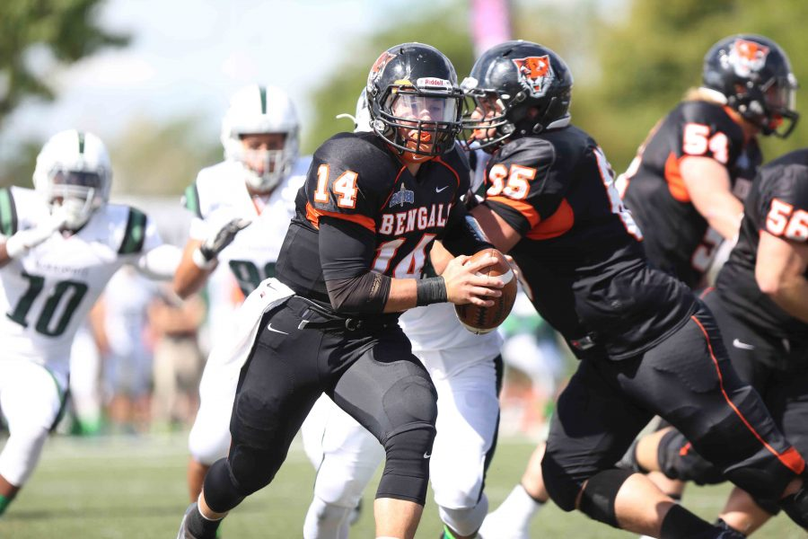 Football marches past Morrisville on homecoming , 40-24
