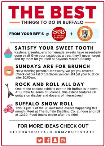 Satisfy your sweet tooth, snow your roll with Step Out Buffalo
