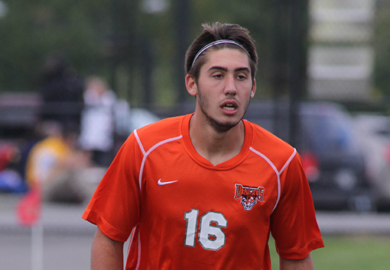 Anthony Appiani scored the game-winning goal for Buffalo State in their opening-game overtime victory over Pitt-Greensburg on Friday.