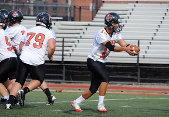 Quarterback Casey Kacz (right) will be key to the Bengals' offensive success Saturday against Cortland.