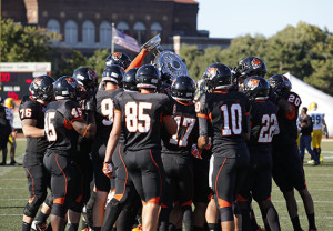 Football takes down Brockport in 42-40 shootout