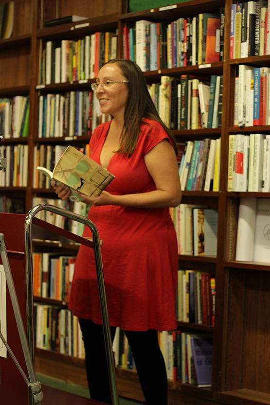 Kristina+Darling+reading+poetry+at+Talking+Leaves+bookstore.