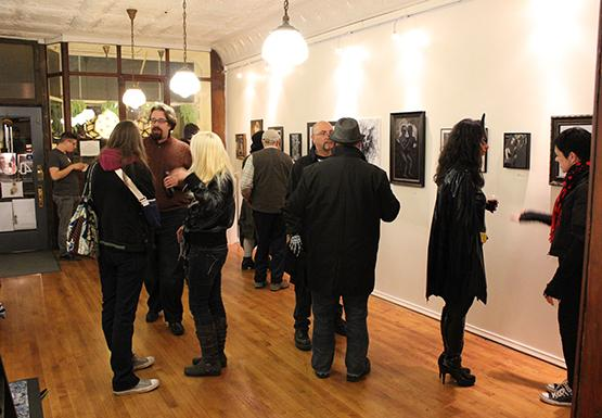 Guests mixed and mingled at 464 Gallery's event Monster 3.0 Friday. 464, owned by Marcus Wise, is on Amherst Street and provides a platform for many a Buffalo State art student to showcase their work.