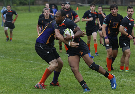 The 3-0 men's rugby team is the only remaining undefeated team in its division this season.