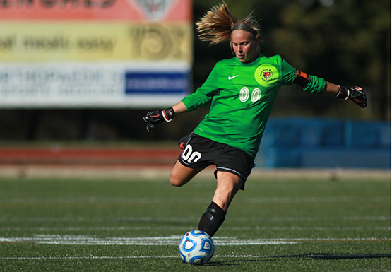 Buffalo State goalkeeper Linda Banfield hasn't allowed a goal in over 250 minutes played.