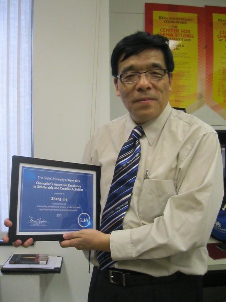 Professor of psychology Jie Zhang has served SUNY Buffalo state for 17 years.