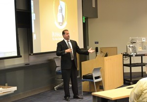 Professor of engineering technology presents on applications of 3D printing
