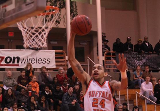 Justin Mitchell is leading Buffalo State with 16.5 points per game this season.