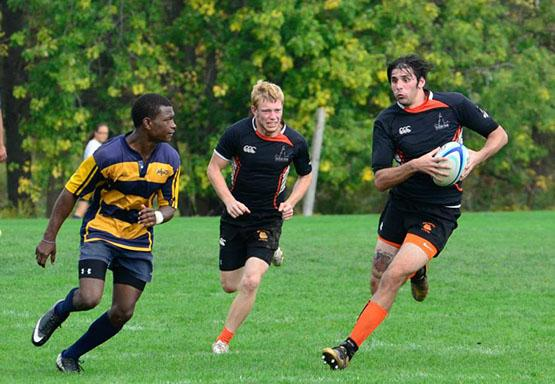 The men's club rugby team remained undefeated and is ranked No. 18 in the country by rugbymag.com.