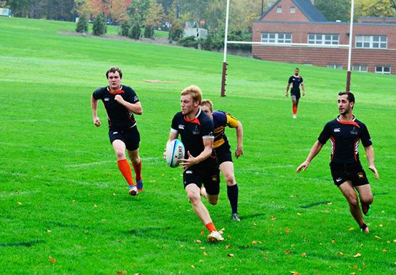 Christian Feickert and the men's rugby team lost to Niagara in the second round of the playoffs on Saturday.
