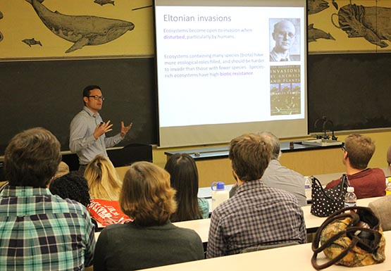 Talking invasive species with Jason Fridley, an associate professor of biology at Syracuse University.
