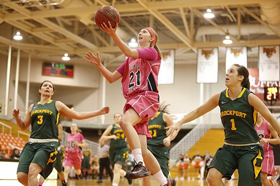 Olivia Luciani scored 15 points and grabbed four rebounds in the Bengals' 91-84 win at Potsdam on Friday.
