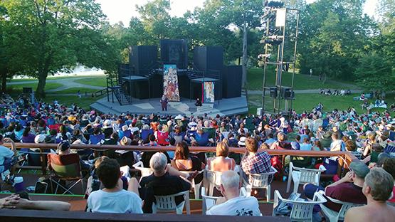 Crowds gather at Shakespeare Hill every summer to enjoy the second most attended free outdoor Shakespeare event in America.