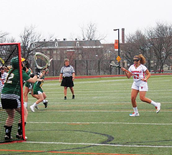 Nikki Paulhardt scored three goals and added an assist in a 17-11 win over Hartwick.