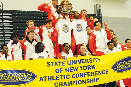 Men's track takes SUNYAC title