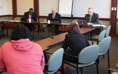 The University Police Department sits with students to talk community policing