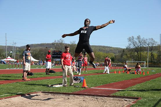 Rich Pete swept the long jump and the triple jump for the Bengals.