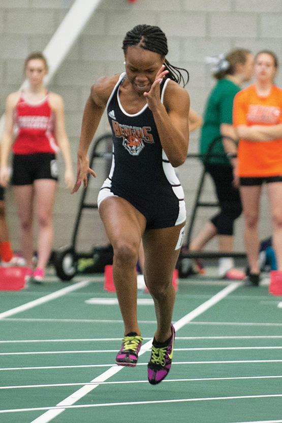 Shuntone Pricher was the first leg in the 4x100 meter relay team that finished eighth.