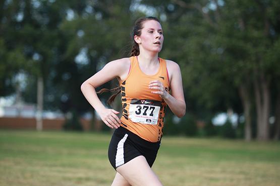 Junior Kat McNamara placed 14th at the Daniel Walker Invite.