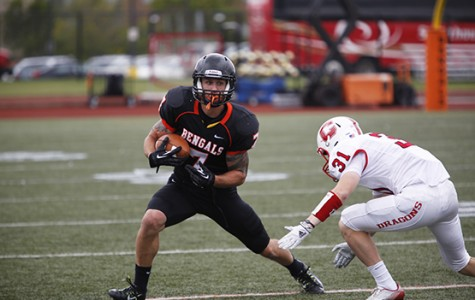Senior wide receiver Mike Doherty had nine catches for 229 yards and two touchdowns in the win.