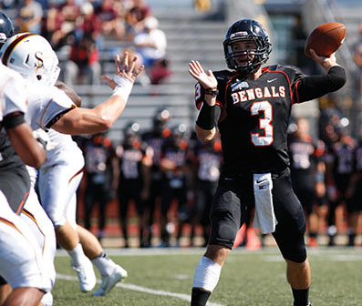 Quarterback Kyle Hoppy's two-point conversation run late in the fourth quarter gave Buffalo State a 32-28 lead.