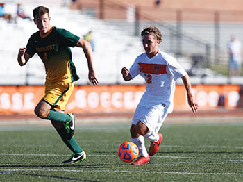 Men's soccer loses first two conference contests