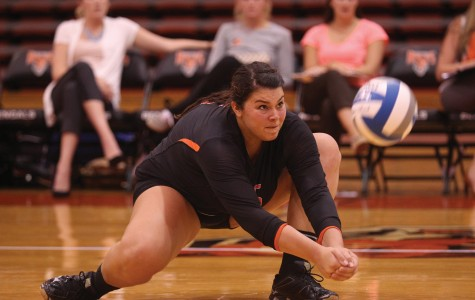 Photo courtesy of Buffalo State Athletics  Senior Sam Parente led Buffalo State with a team-high 31 kills over the weekend.