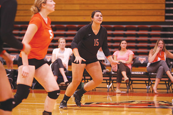 Sam Parente had a team-high 14 kills in the Bengals four-set win Geneseo.
