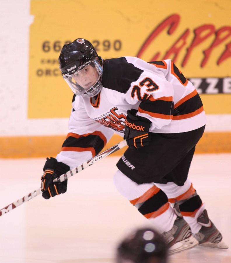 Freshman forward BriCarroll has two goals and six assists in 10 games played.
