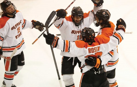 The Bengals celebrated five goals against Potsdam for the their eighth win of the season and fourth in SUNYAC play.