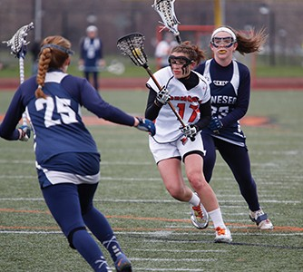 Meghan Farrel of the Bengals charges as the Bengals draw