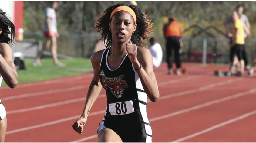 Jazmin+Dunham+and+the+women%E2%80%99s+outdoor+track+and+field+team+closed+out+the+regular+season+strong.