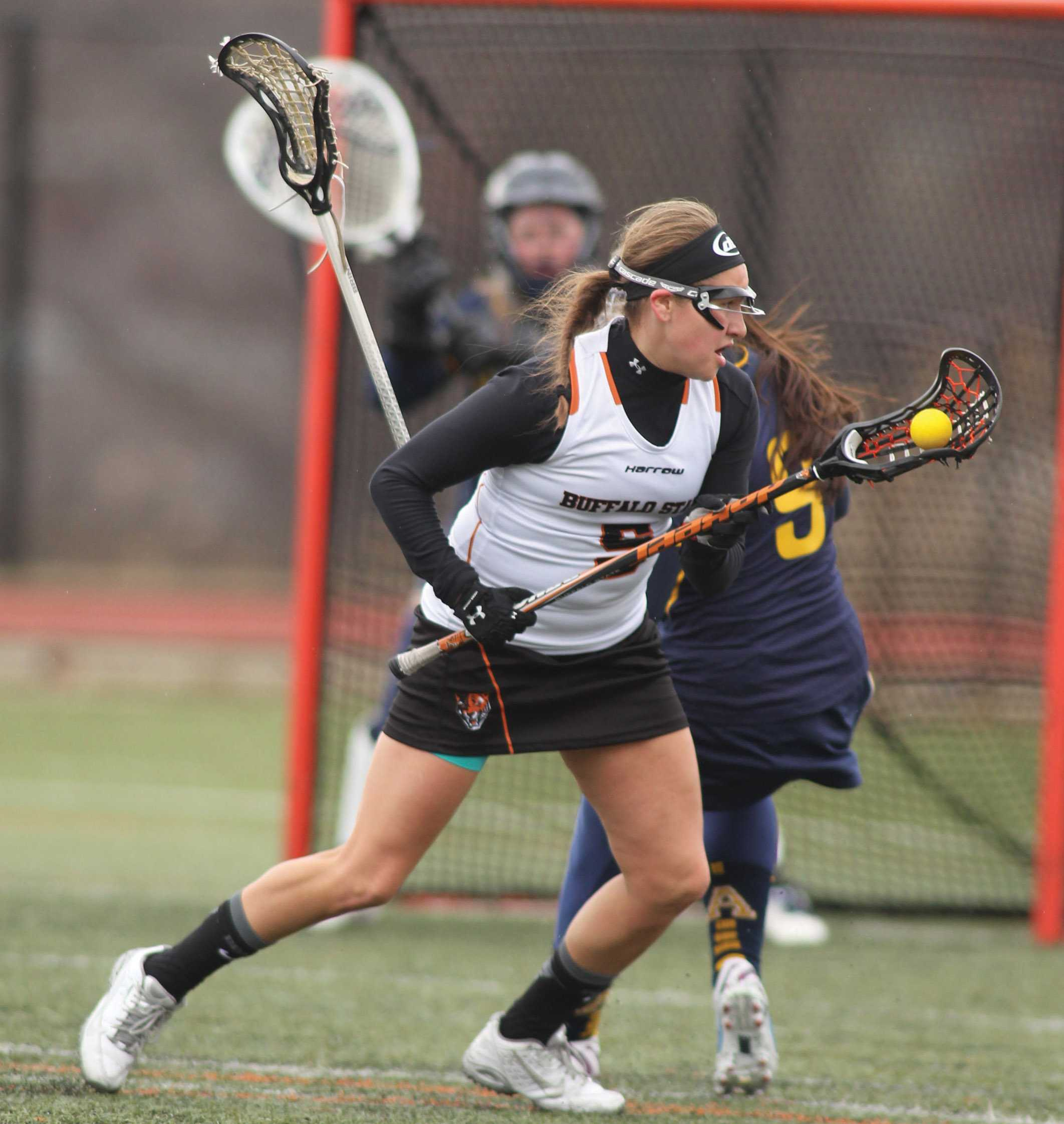 Sophomore attacker Alanna Herne leads the SUNYAC in goals (21).
