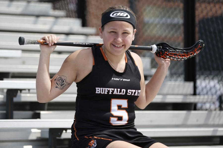 Freshman+attacker+Alanna+Herne+led+the+Bengals+in+points+%2873%29+and+goals+%2842%29%2C+on+way+to+being+named+second+team+All-SUNYAC.