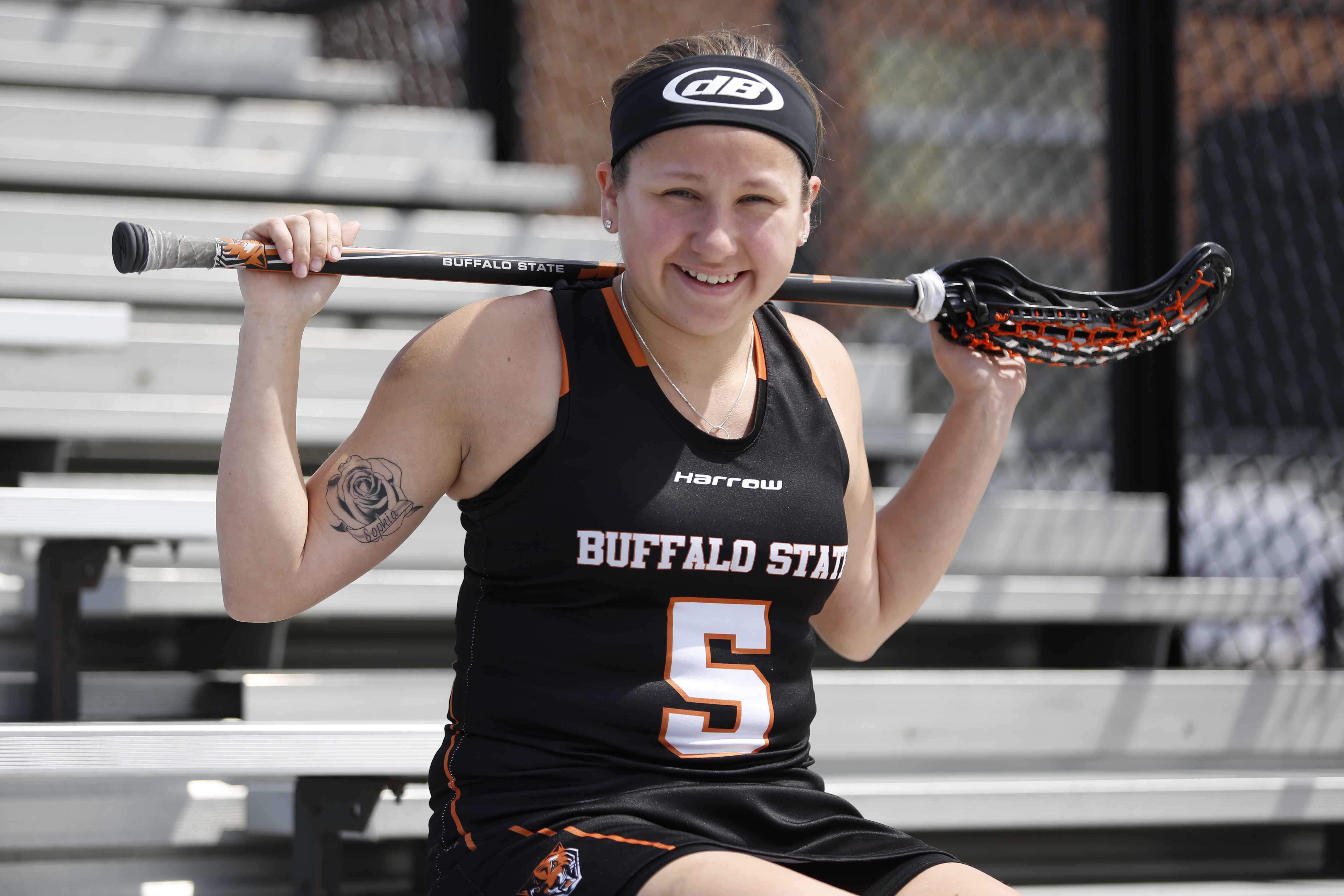 Freshman attacker Alanna Herne led the Bengals in points (73) and goals (42), on way to being named second team All-SUNYAC.