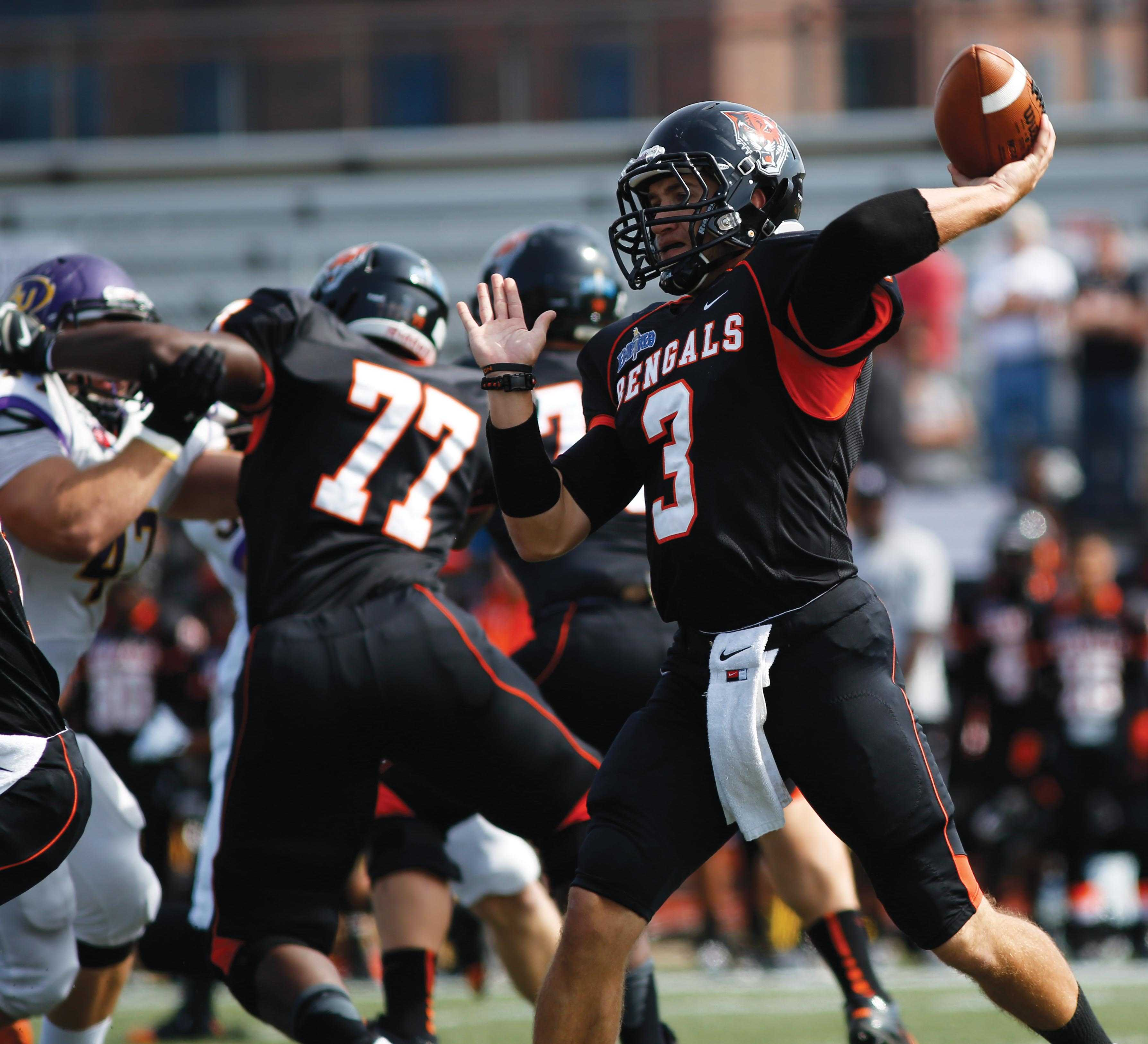 Junior quarterback Kyle Hoppy returns after leading the Bengals to an ECAC Championship in 2014.