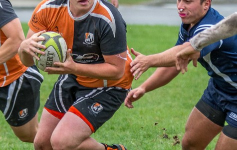 Justin Brzyski and men's club rugby beat Ithaca to improve to 3-2 on the season.