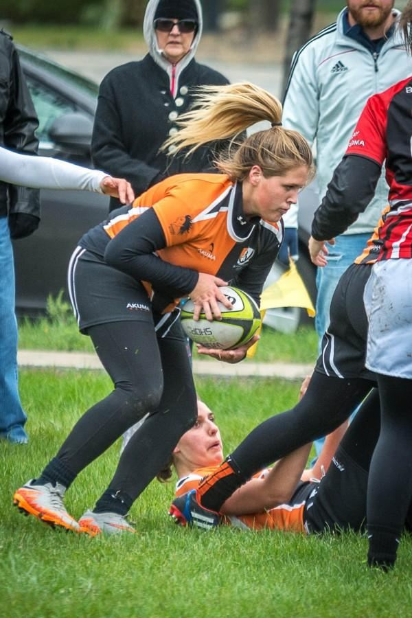 Kirsten Dole and women's club rugby are a perfect 5-0 this season.