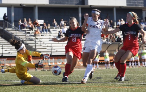 Meghan Allen (23) had a goal and an assist in Buffalo State's 4-1 win over  Plattsburgh.