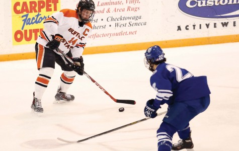 Men's hockey improves to 4-2-2, remain undefeated in SUNYAC play