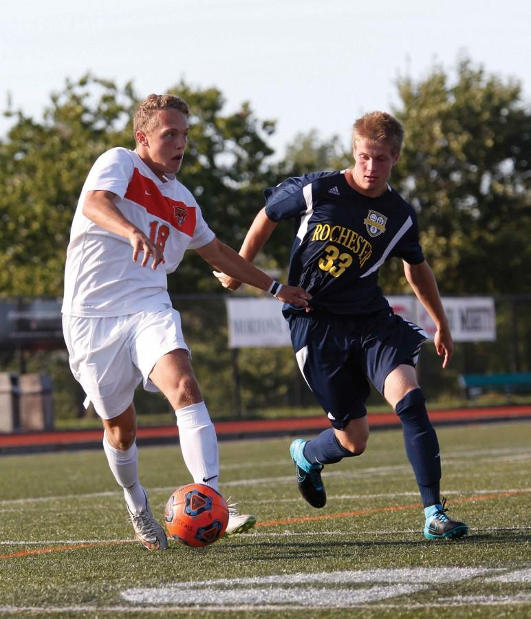 Freshman forward August Finn finished third on the team with two goals this season.
