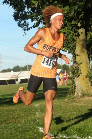 Junior Austin Becker was the second-best finisher for the men's team, placing 79th overall with a time of 28:28 in the 8k course.