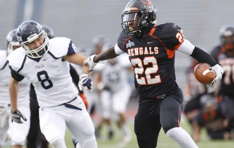 Sophomore running back Dale Stewart led the Bengals to a 35-28 I-90 Bowl victory on Saturday, rushing 28 times for 155 yards and two touchdowns.