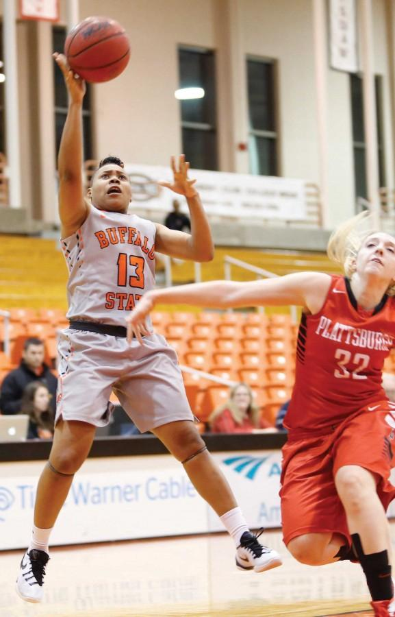 Aaliyah Graham and the BGengals lost 85-78 to Fredonia on Friday.