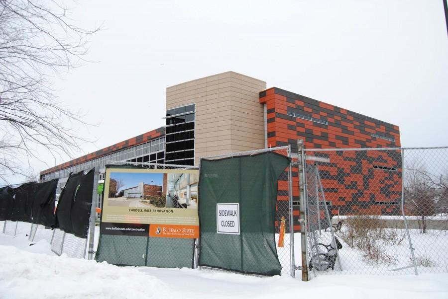 Construction... Construction... Construction... It never seems to end at Buffalo State, however the renovation of Caudell Hall (shown above) is expected to finish up this summer.