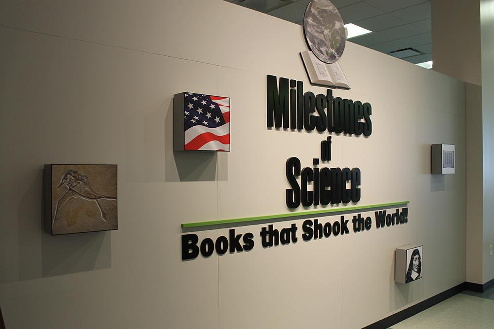 The Milestones of Science exhibit is open to the public at no cost seven days a week.
